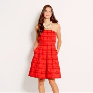 Vineyard Vines Solid Grosgrain Plaid Dress
